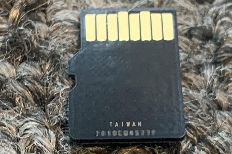 jnhショップのSDカード印字裏面