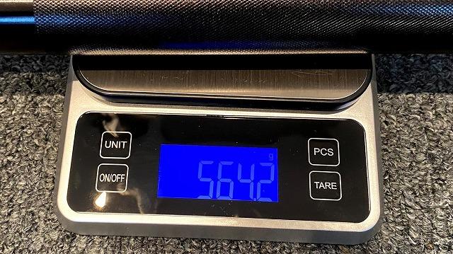 マグライト6Dの重量は564グラム