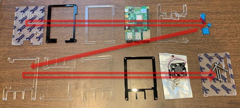 MiuzeiのRaspberry Pi 4ケースの組み立て