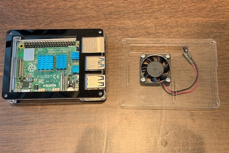 MiuzeiのRaspberry Pi 4ケース組み立て2